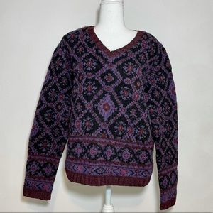 The Limited VTG Knit By Hand Wool Grandpa Sweater